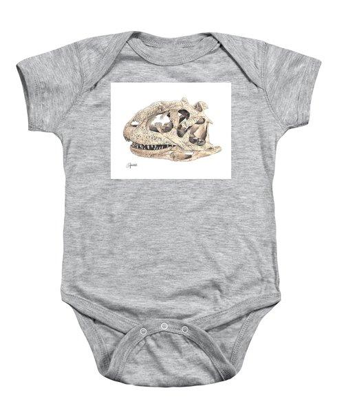 Majungasaur Skull Baby Onesie