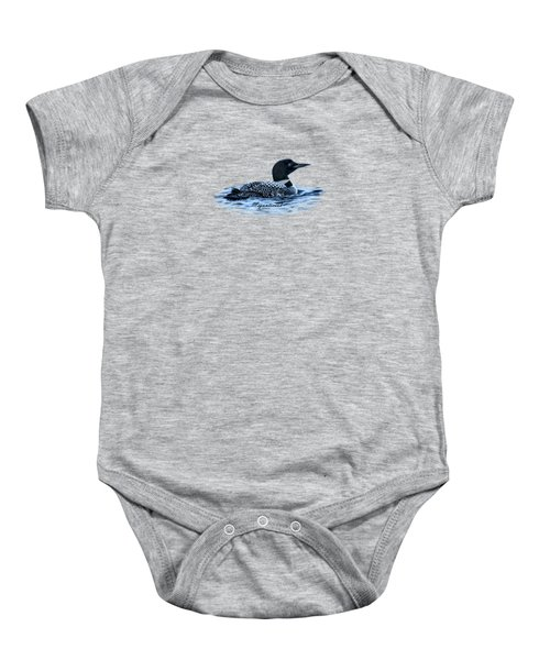 Male Mating Common Loon Baby Onesie