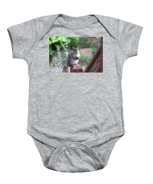 Mama Squirrel Baby Onesie