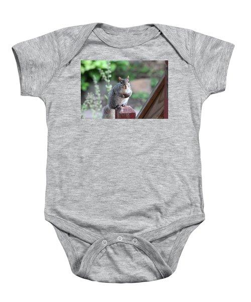Mama Squirrel Baby Onesie
