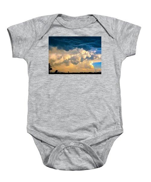 Mammatus Clouds At Sunset Baby Onesie