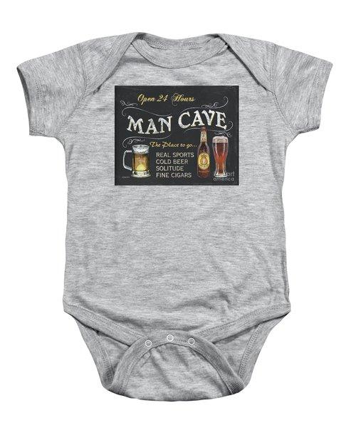 Man Cave Chalkboard Sign Baby Onesie
