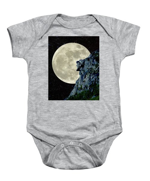 Man In The Moon Meets Old Man Of The Mountain Vertical Baby Onesie