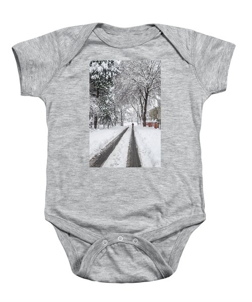 Man On The Road Baby Onesie