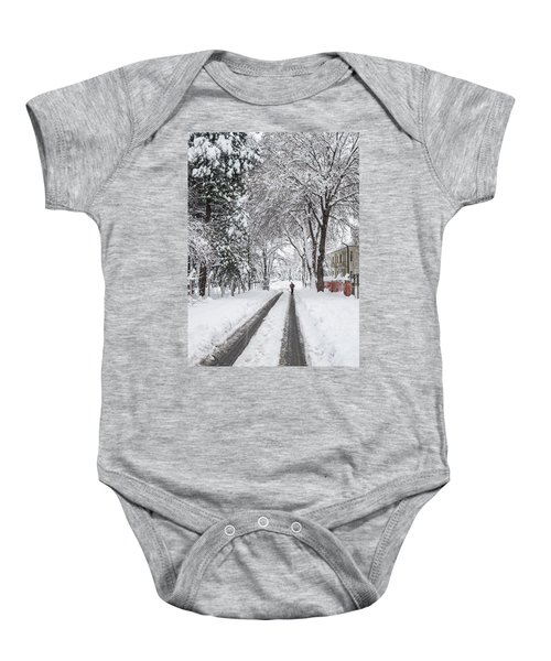 Man On The Road Baby Onesie