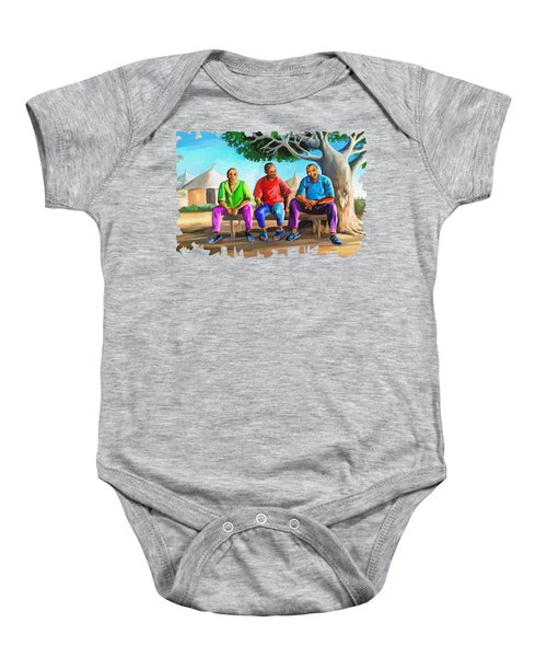 Man Talk Baby Onesie