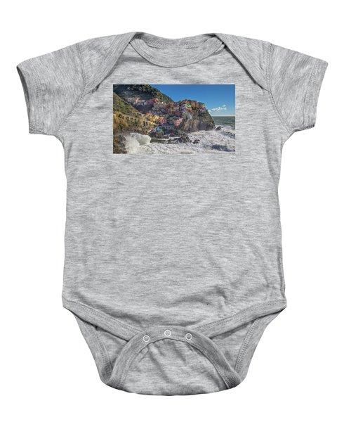 Manarola In Cinque Terre  Baby Onesie