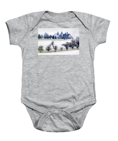 Manchester Farm In Winter Baby Onesie