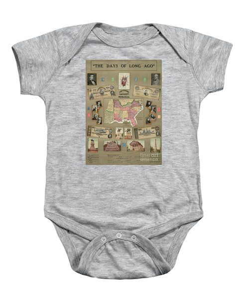 Map: Confederate States Baby Onesie