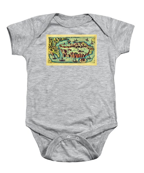 Map Seaport Baby Onesie