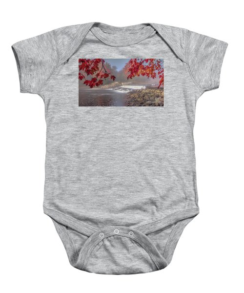 Maple Leaf Frame Ws Baby Onesie