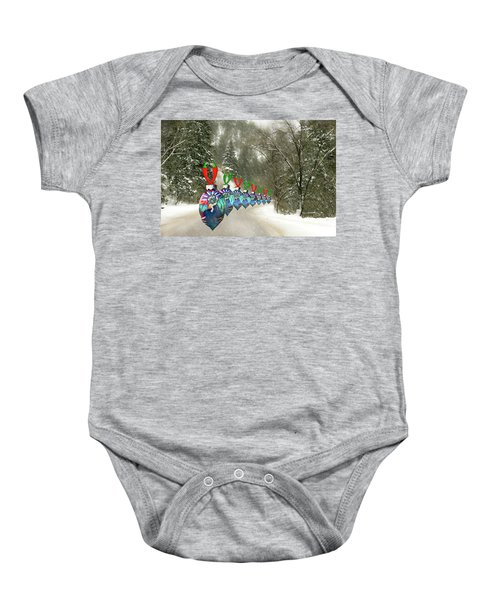 Marching Ornaments Chili Peppers Baby Onesie