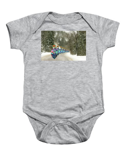 Marching Peace Ornaments Baby Onesie