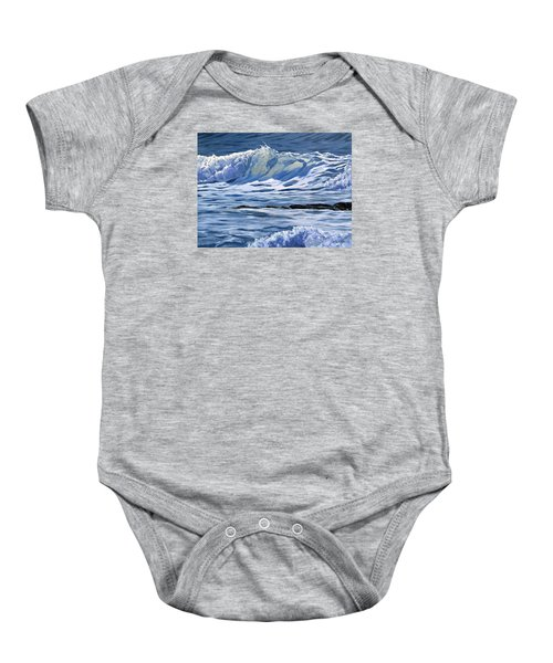 Baby Onesie featuring the painting May Wave by Lawrence Dyer
