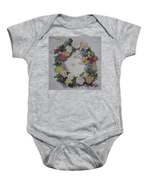 May Wreath Baby Onesie