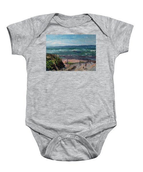 Mayflower Beach Baby Onesie