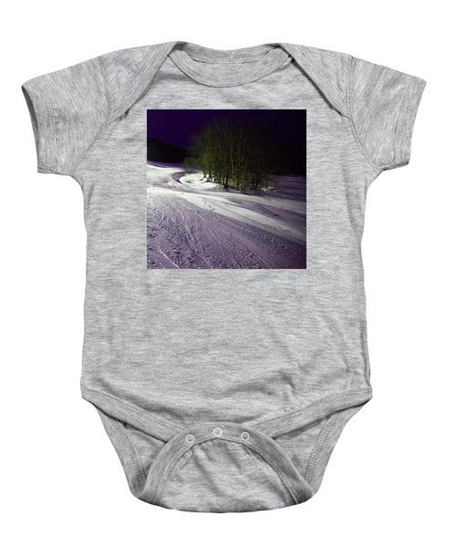 Baby Onesie featuring the photograph Mccauley Evening Snowscape by David Patterson