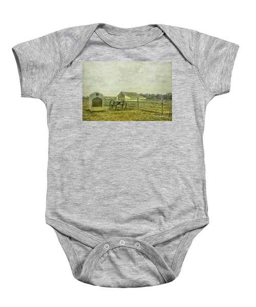 Mcpherson Barn And Cannon Gettysburg  Baby Onesie