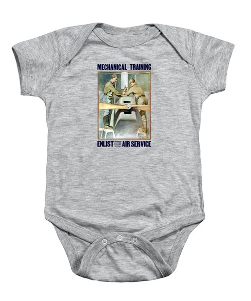 Mechanical Training - Enlist In The Air Service Baby Onesie