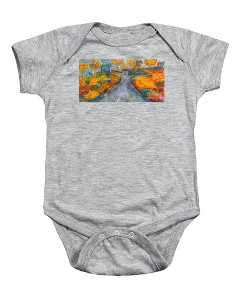 Memories Of Home In Autumn Baby Onesie