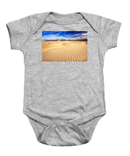 Mesquite Flat Sand Dunes In Death Valley Baby Onesie