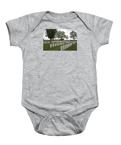 Baby Onesie featuring the photograph Messines Ridge British Cemetery by Travel Pics