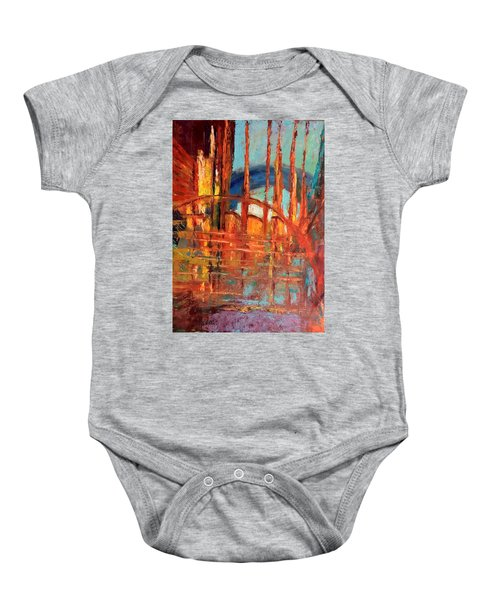 Metropolis In Space Baby Onesie