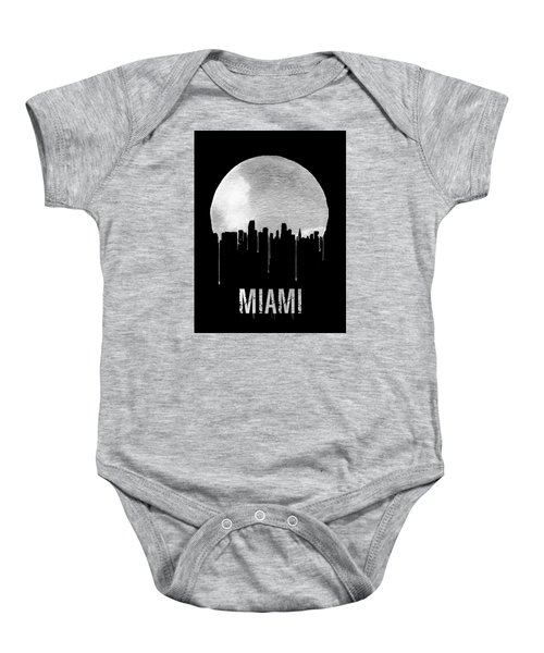 Miami Skyline Black Baby Onesie by Naxart Studio