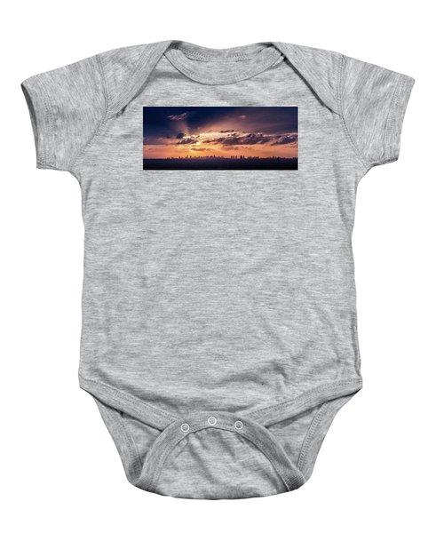 Miami Sunset Pano Baby Onesie