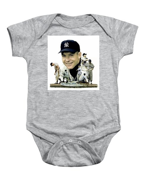Mickey Mantle Legacy, II  Baby Onesie by Iconic Images Art Gallery David Pucciarelli