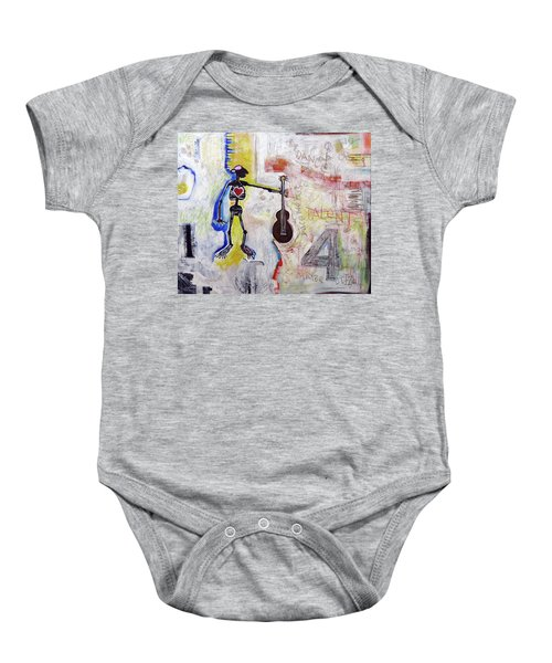 Middle-aged Musician Baby Onesie