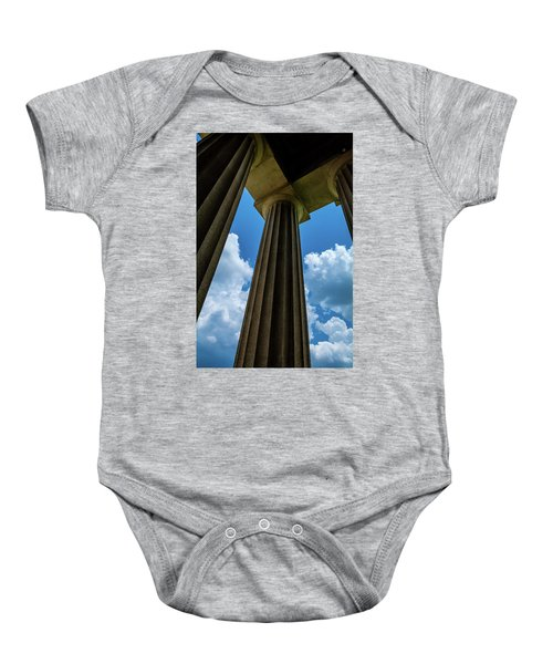 Mighty Columns  Baby Onesie