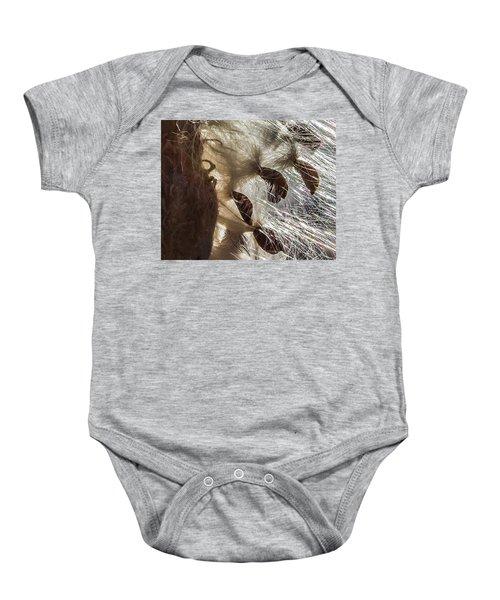 Milkweed Seed Burst Baby Onesie