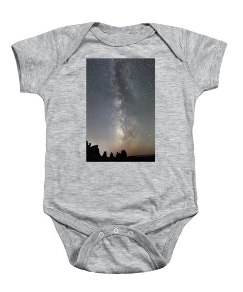 Milky Way Over Arches Np Two Baby Onesie