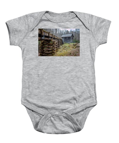 Mingus Millrace And Mill In Late Winter Baby Onesie