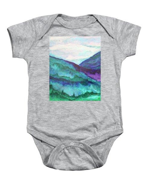 Mini Mountains Majesty Baby Onesie