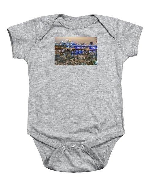 Minneapolis Bridges Baby Onesie
