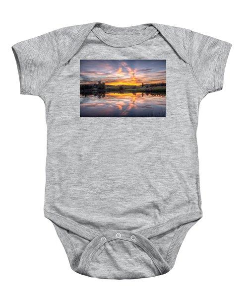Mirror Lake Sunset Baby Onesie
