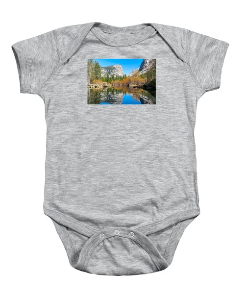 Mirror Lake Yosemite Np Baby Onesie