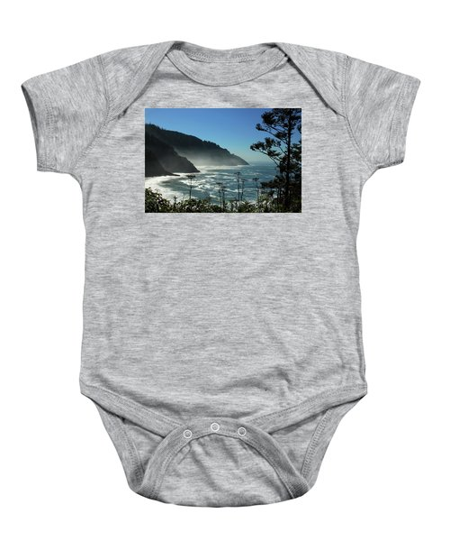 Misty Coast At Heceta Head Baby Onesie