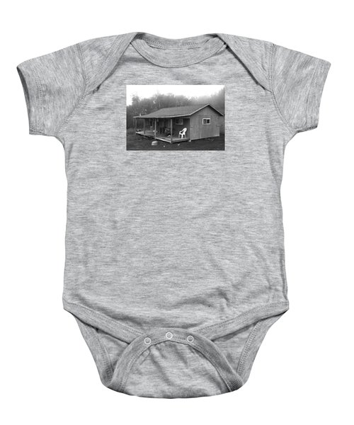 Misty Morning At The Cabin Baby Onesie by Jose Rojas