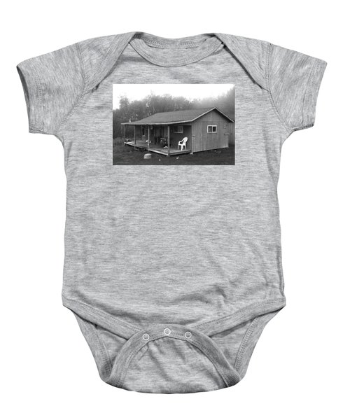 Misty Morning At The Cabin Baby Onesie