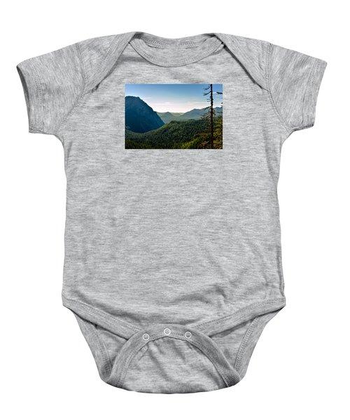 Misty Mountains Baby Onesie by Anthony Baatz