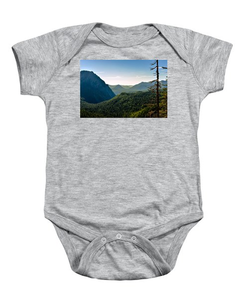 Misty Mountains Baby Onesie