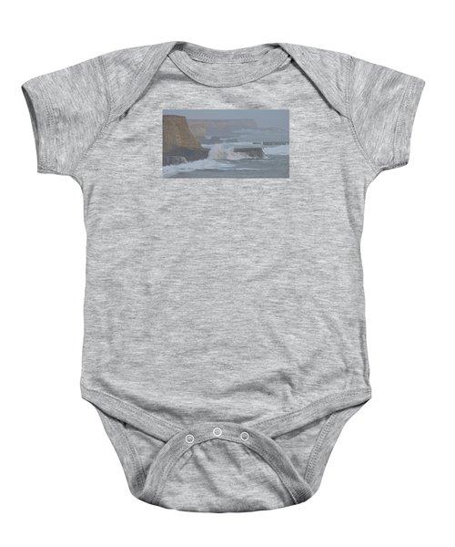 Misty Pacific Cliffs Baby Onesie