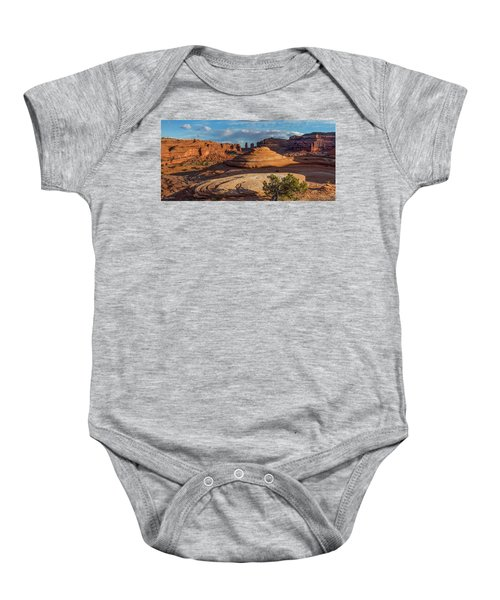 Moab Back Country Panorama Baby Onesie