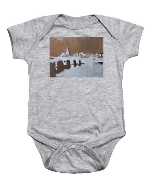 Moasbrogk In Brown Tints Baby Onesie