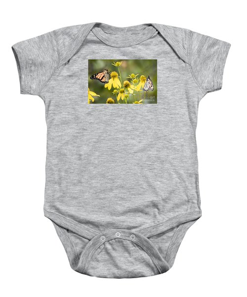 Baby Onesie featuring the photograph Monarchs Of Wisconsin by Ricky L Jones
