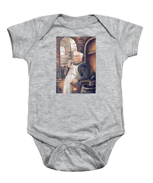 Monk With Wine Baby Onesie