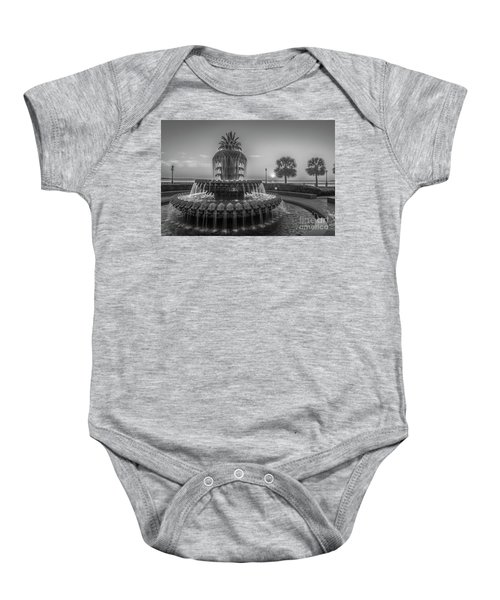 Monochrome Pineapple Baby Onesie